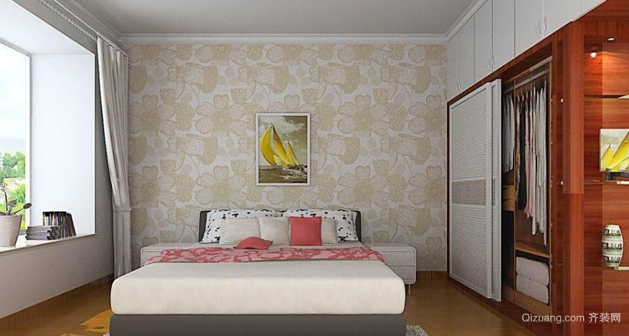 简约卧室装修墙纸效果图