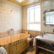 卫生间木桶浴缸展示