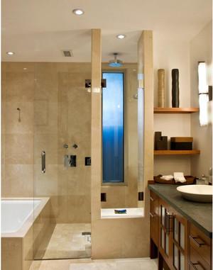 70平米欧式卫生间瓷砖背景墙装修效果图