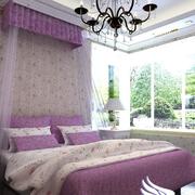 别墅紫色浪漫卧室