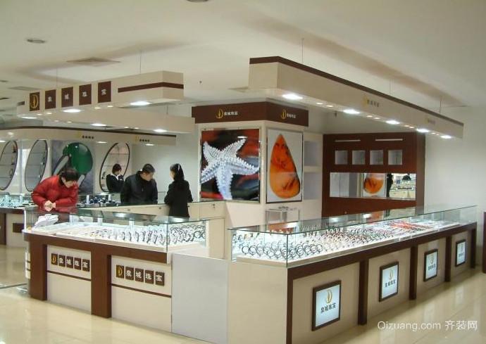 现代简约风格珠宝展柜装修设计效果图