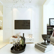 大户型简洁干净客厅