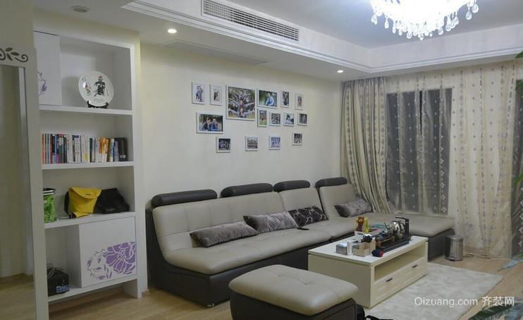120㎡现代简约风格家庭客厅装修效果图
