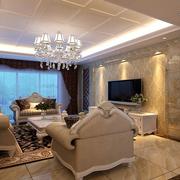 三室一厅客厅简欧沙发