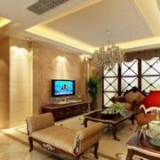 优雅古典气质客厅背景墙