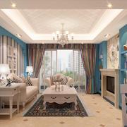 温馨色调客厅设计图片