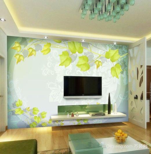复式楼家装墙体彩绘装修效果图