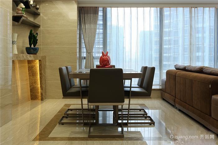 大户型欧式客厅家用餐桌背景墙装修效果图
