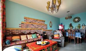 东南亚混搭客厅图片