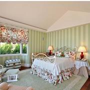 自然风格卧室窗帘设计
