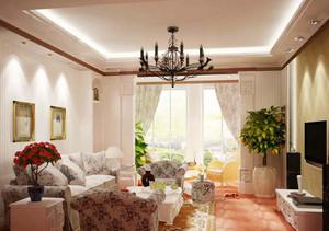 三室一厅简欧客厅装修效果图
