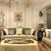 暖色调客厅背景墙造型图
