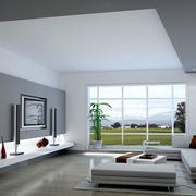 灰白色的别墅图片