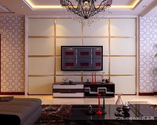 客厅石材电视背景墙装修效果图