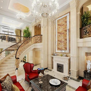 复古典雅别墅楼梯
