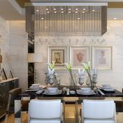 三室一厅餐厅水晶吊灯