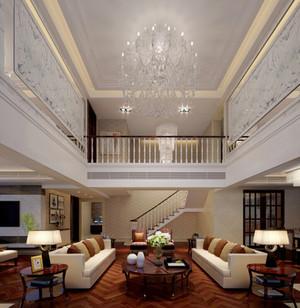 二层别墅客厅装修设计效果图