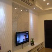 单身公寓客厅背景墙