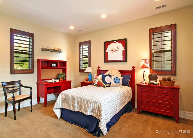 经典中式儿童房装修 简约并可爱