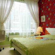 儿童清新绿色卧室