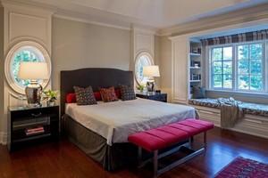 120平米宜家美式客厅飘窗背景墙装修效果图
