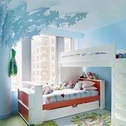 清新色调儿童房效果图