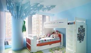 110㎡蓝色地中海风格儿童房设计装修效果图