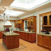 暖色调厨房装修大全