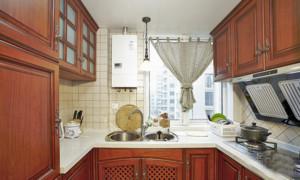 新美式乡村风格农村厨房房屋装修设计效果图
