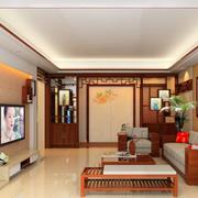 时尚风格三室二厅客厅