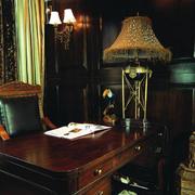 自然风格书房装修图片