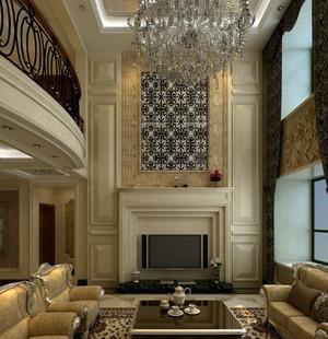 深色调别墅客厅图片