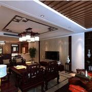 古典优雅客厅吊顶