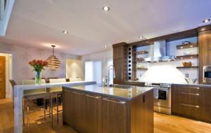 30平米美式厨房吧台装修效果图