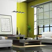 清新绿色客厅壁纸
