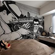 灰色调卧室设计图片