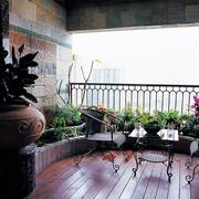 阳台地板砖装修图片