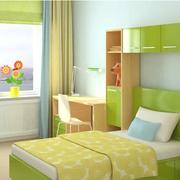 绿色清爽儿童卧室