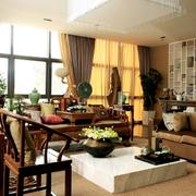 中式现代混搭客厅