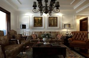 70平米精美巴洛克风格客厅装修效果图