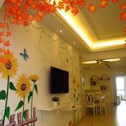 温馨色调背景墙效果图