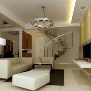 复式楼客厅楼梯装饰