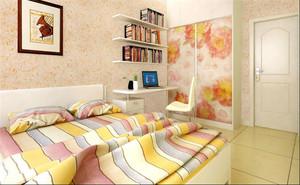 30平小户型清新卧室墙衣装修效果图