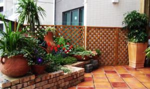 别墅花园地板砖装修