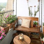 阳台木地板效果图片