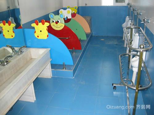 可爱幼儿园儿童卫生间装修效果图