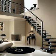 灰色调楼梯装修图片