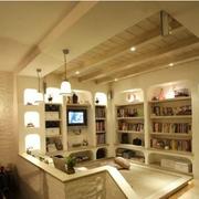 开放式书房转角书柜