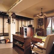 现代美式自然客厅