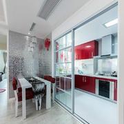 厨房玻璃门欣赏